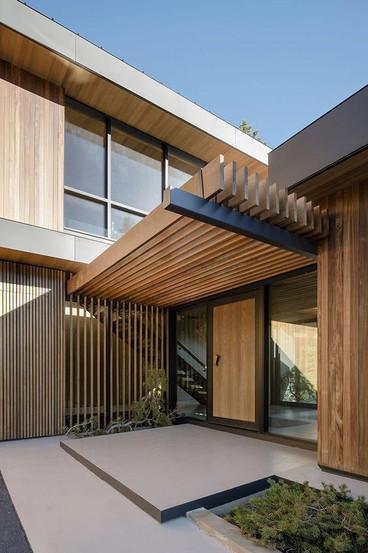Auvent bois hêtre clair