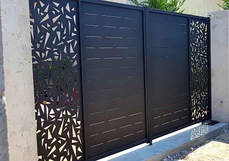 Portique décoratif acier et aluminim  laqué