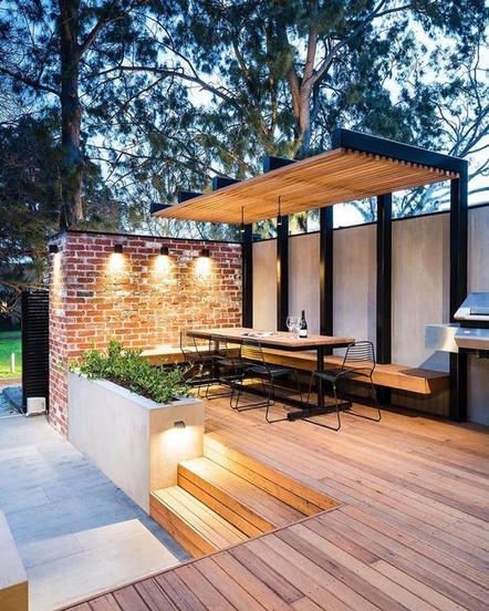 Auvent et terrasse