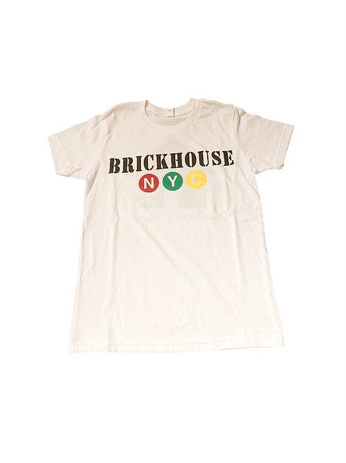 BRICKHOUSE WHITE SHORT SLEEVE T-SHIRT