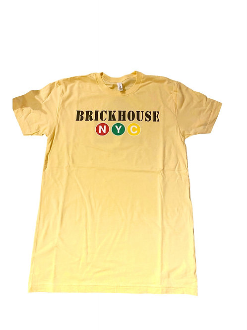 BRICKHOUSE YELLOW SHORT SLEEVE T-SHIRT
