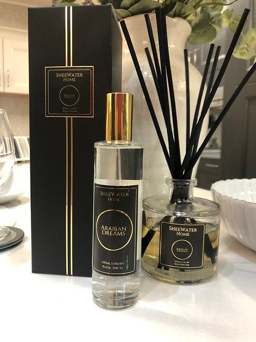 Arabian Dreams Luxury Diffuser and Room Spritz Bundle