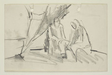 Man and a woman sitting