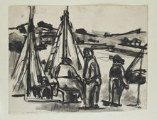 Men with Sailing boats