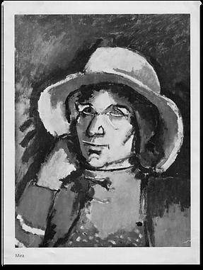Painting of Mira by Josef Herman