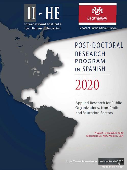 POST-DOCTORAL PROGRAM CON BECA DE MAS DEL 20%