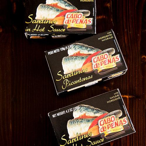 Cabo De Penas Sardines in Hot Sauce