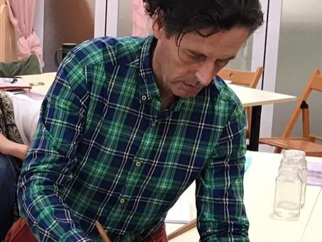 老師Benno Nijhuis教我們以藝術打破隔膜