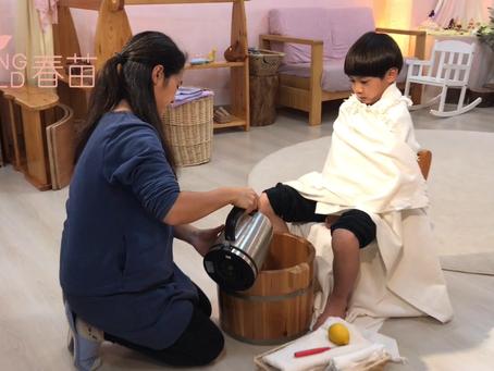 為孩子增强抵抗力的自然良方 - 檸檬足浴