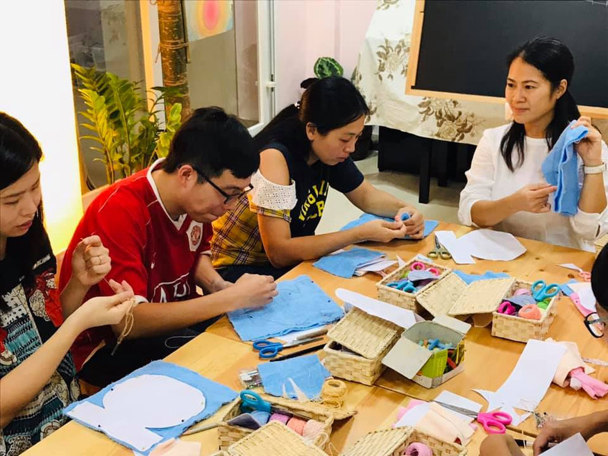 Makring craft with parents.jpg