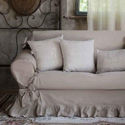 Copri Divano 2/3 posti color Tortora - Sofa Cover | Home Decor ...