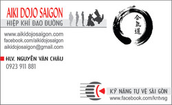 name card of AIKI DOJO SAIGON