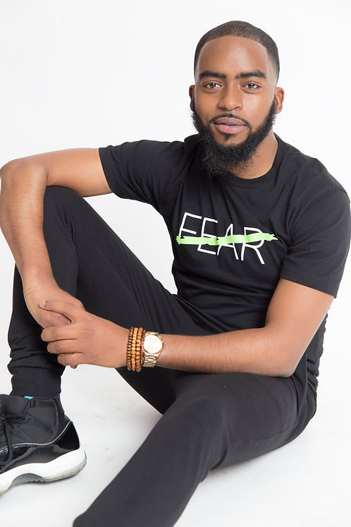 NO FEAR MENS TEE - LIME