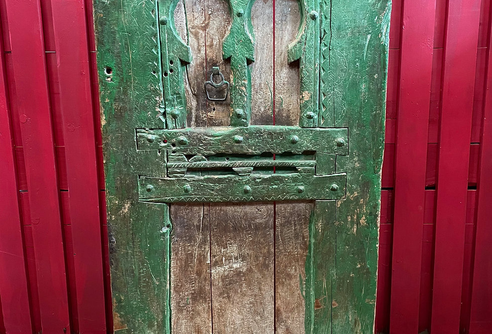 Maroc, Ancienne porte Berbère du haut Atlas XIXème siècle