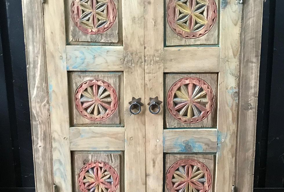 Armoire 2 portes, Vallée de l'Himalaya, Pakistan, XX