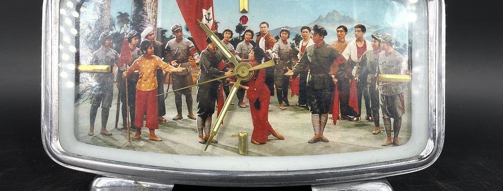 Chine, Authentique Pendule Réveil Mao Vintage vers 1950 N°21