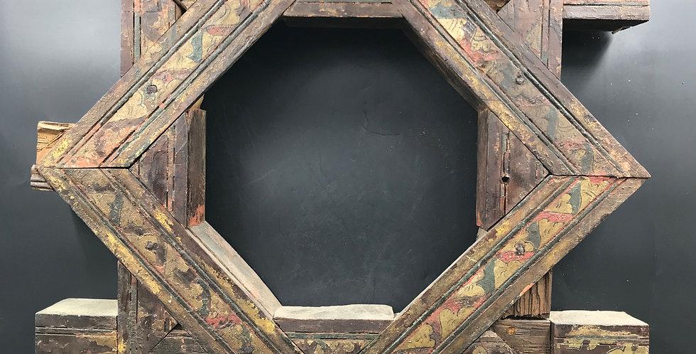 Rare CAISSON DE PLAFOND OCTOGONAL, Maroc, XIXème