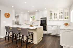Kitchen remodel with marble