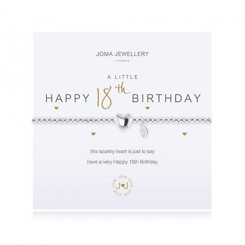 Joma Jewellery 'A little......' Adult Bracelet - 18th Birthday