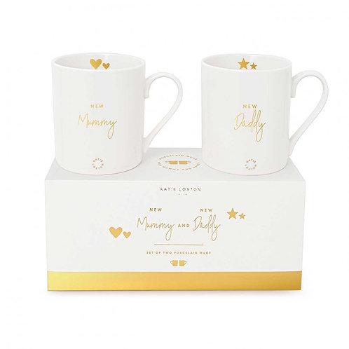 Katie Loxton New Mummy & New Daddy Mug Set- Gift Boxed