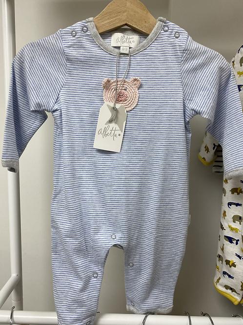 Albetta Crochet Piglet Babygro - Blue