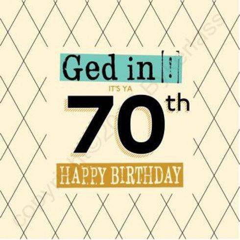 Geordie Cards - 70th
