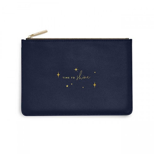 Time to Shine-Katie Loxton Perfect Pouch-Navy