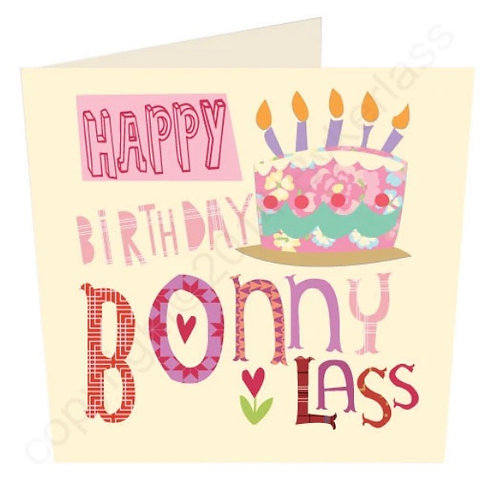 Happy Birthday Bonny Lass- Geordie Card by Wotmalike