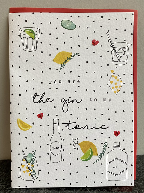 Stop The Clock Design - you are the gin to my tonic