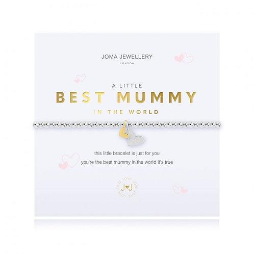 Joma Jewellery- 'a little...Best Mummy in the World' Bracelet