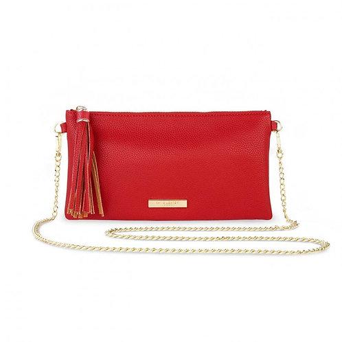 Katie Loxton Freya Tassel Crossbody Bag-Red