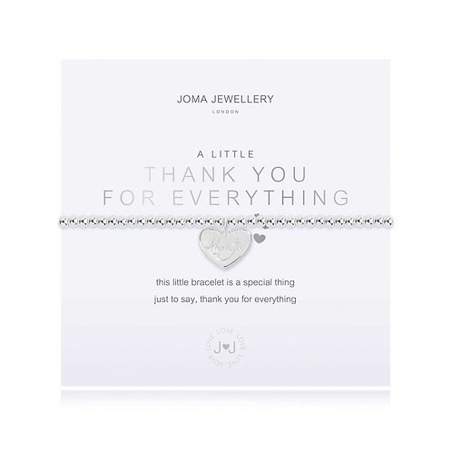 Joma Jewellery-'a little...Thank You for Everything' Bracelet