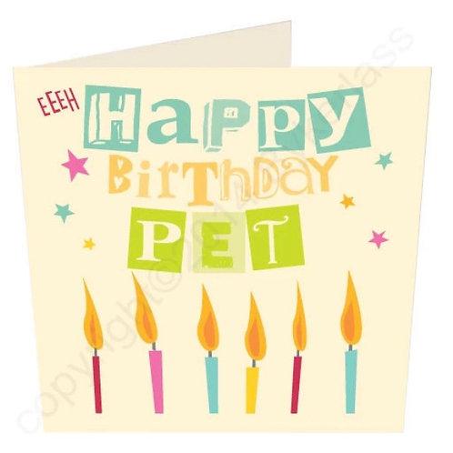 Happy Birthday Pet - Geordie Card by Wotmalike