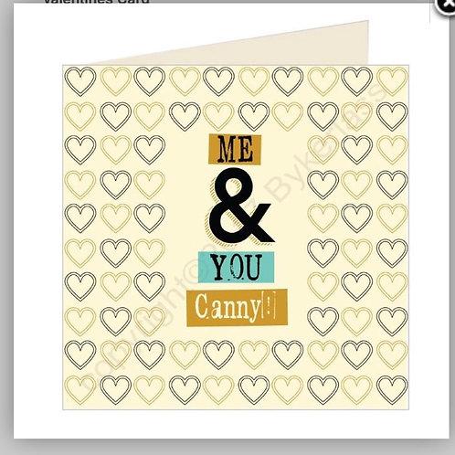 Geordie Cards - Me & You