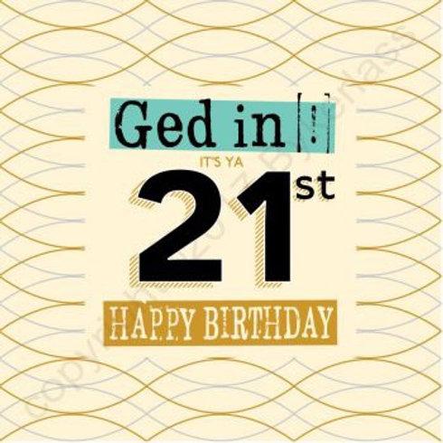 Geordie Cards - 21st