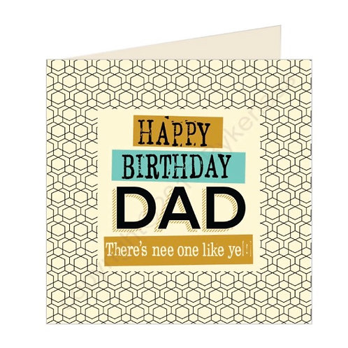 Happy Birthday Dad- Geordie Card by Wotmalike