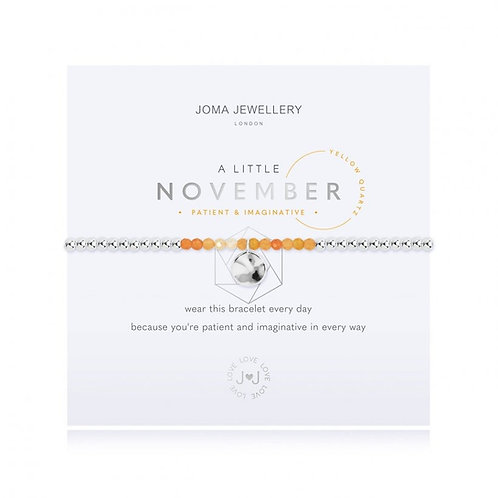 Joma Jewellery November-'a little' Birthstone- Yellow Quartz