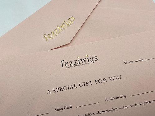 £10 Fezziwigs Gift Vouchers