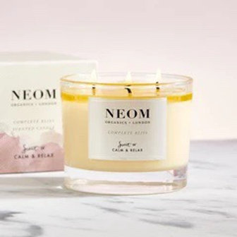 Complete Bliss 3- wick Scented Candle - Neom Organics
