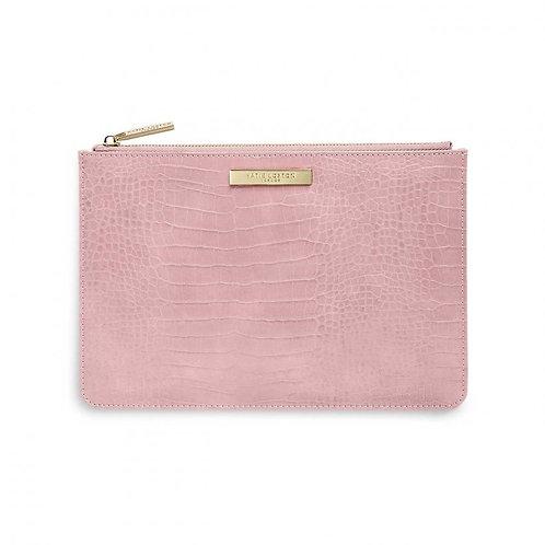 Katie Loxton Celine Faux Croc Perfect Pouch- Pink