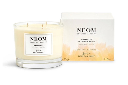 Neom Happiness Scented Candle-3-wick