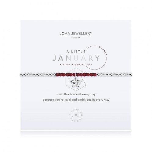 Joma Jewellery January-'a little' Birthstone-Garnet