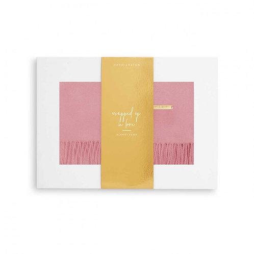 Katie Loxton-Thick Plain Scarf-Foxglove Pink