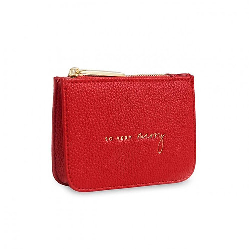 So Very Merry-Katie Loxton Stylish Structured Coun Purse-Red