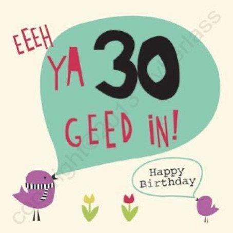 Geordie Cards - 30th