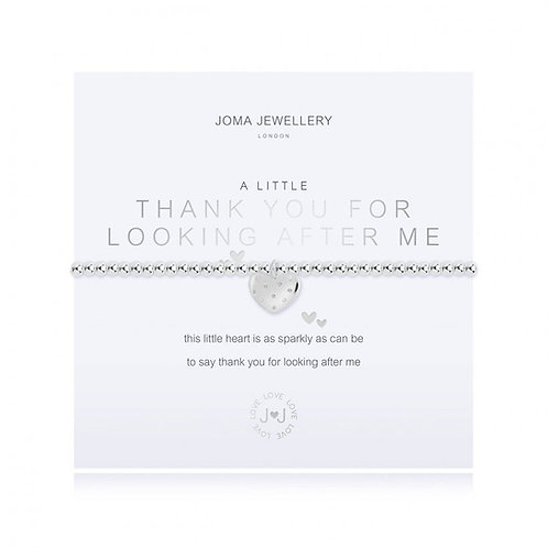 Joma Jewellery- 'a little.... Thank You for Looking After Me' Bracelet