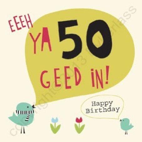 Geordie Cards - 50th