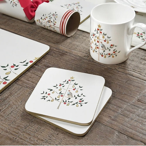 Partridge in a Pear Tree Coasters- Set of 4