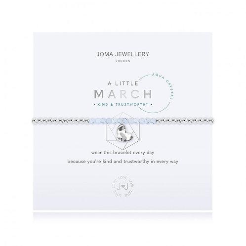 Joma Jewellery March-'a little' Birthstone- Aqui
