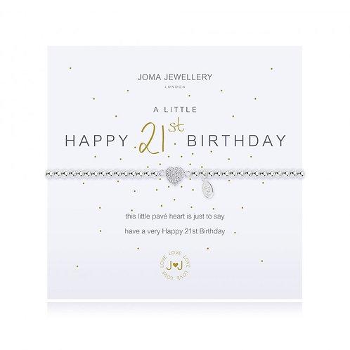 Joma Jewellery 'A little......' Adult Bracelet - 21st Birthday